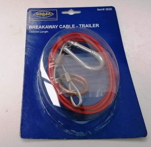 Trailer Breakaway Cable 1000 Mm