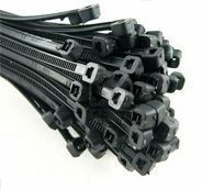 Pack of 100 100mm x 2.5mm blk cable tie